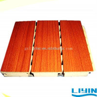 Wooden Grooved Acoustic Panel Wall Paneling Home Depot