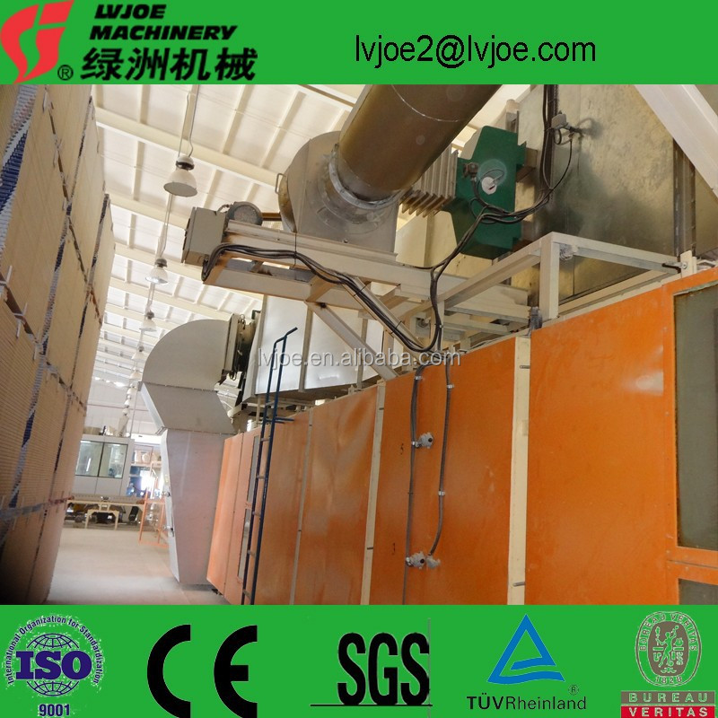 small scale production plant of gypsum board
