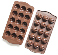KG-1620 handmade FDA&LFGB standar silicon rubber choclate cake pudding molds