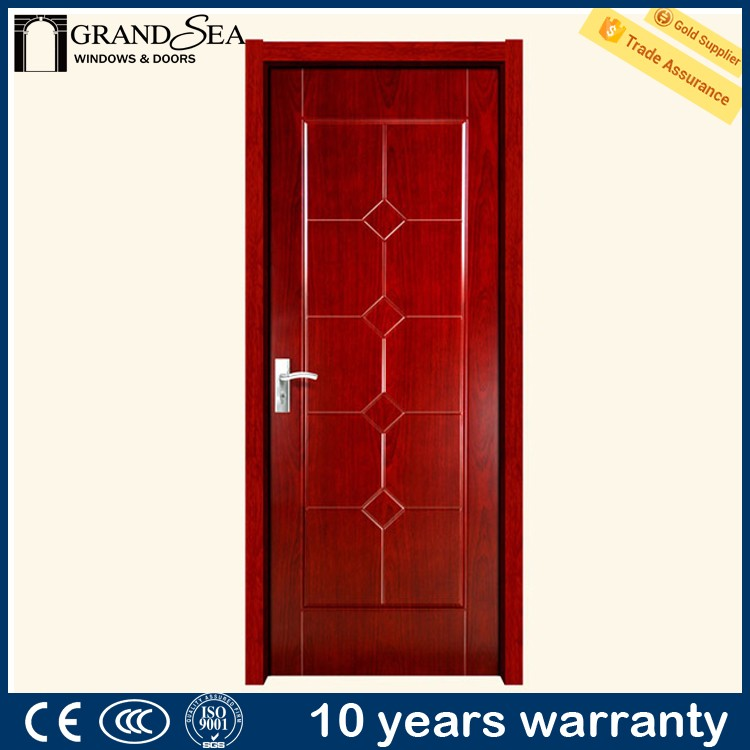 Australia standard HDF moulded skin glass kitchen door design for safety