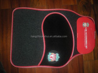 English Premier League football club carpet car mat with funky embroidery