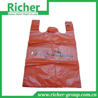 cheap hd material newest plastic t shirt shopping bags with QUALITY INSPECT