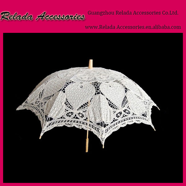 Factory wholesale Cotton Lace Parasol Wedding Umbrella