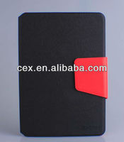 Dual Color Black &Red Wallet PU Leather Card Holder Magnetic Flip Cover Case Stand for iPad Mini
