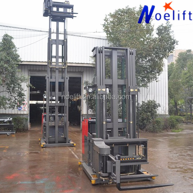 New arrival mini-space material handing 3 way narrow aisle forklift for warehouse electric pallet stacker