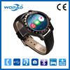 Chinese Projection Smart Watch Mobile Cell Phone With Leather Band