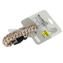 custom logo nylon paracord bracelet supplies for sale