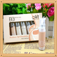 The best quality 8 differnt colors Menow waterproof whitening liquid foundation