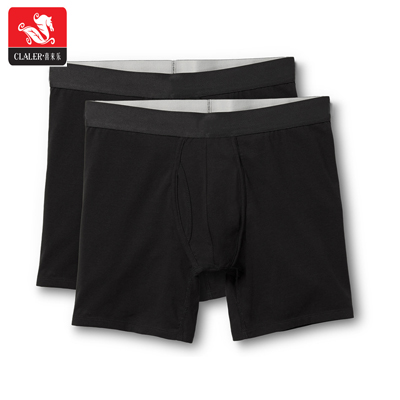 Wholesale 3 pack custom full US EU size underwear new comfortable fashion european style men's long boxers