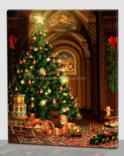 top selling christmas decoration led canvas wall art