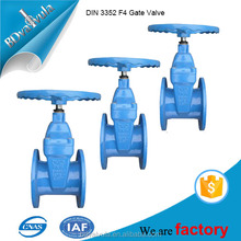 DIN3352 F4 Non-rising Stem Resilient Soft Seated Cast Iron Gate valves
