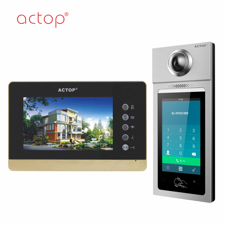 ACTOP hot sell TCP/IP video door phone building intercom system HD Android smart machines