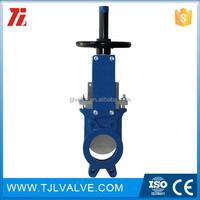 class150/pn10/pn16 wafer type cast aluminum body manual knife gate valve 5.75 id 5.875 od w/ screw lock new ce certifica