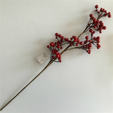 Artificial Red Berry Picks dried berries for Christmas wreath decoration