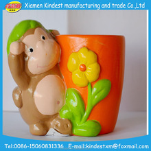 Cute animal handmade Small ceramic Flower Pot