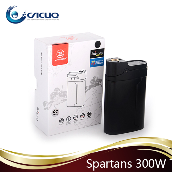 adjustable wattage ecig vaporizer 300W box mod large capacity Spartans 12.6V variable voltage box