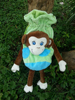 cartoon design cute plush monkey bag kids bag