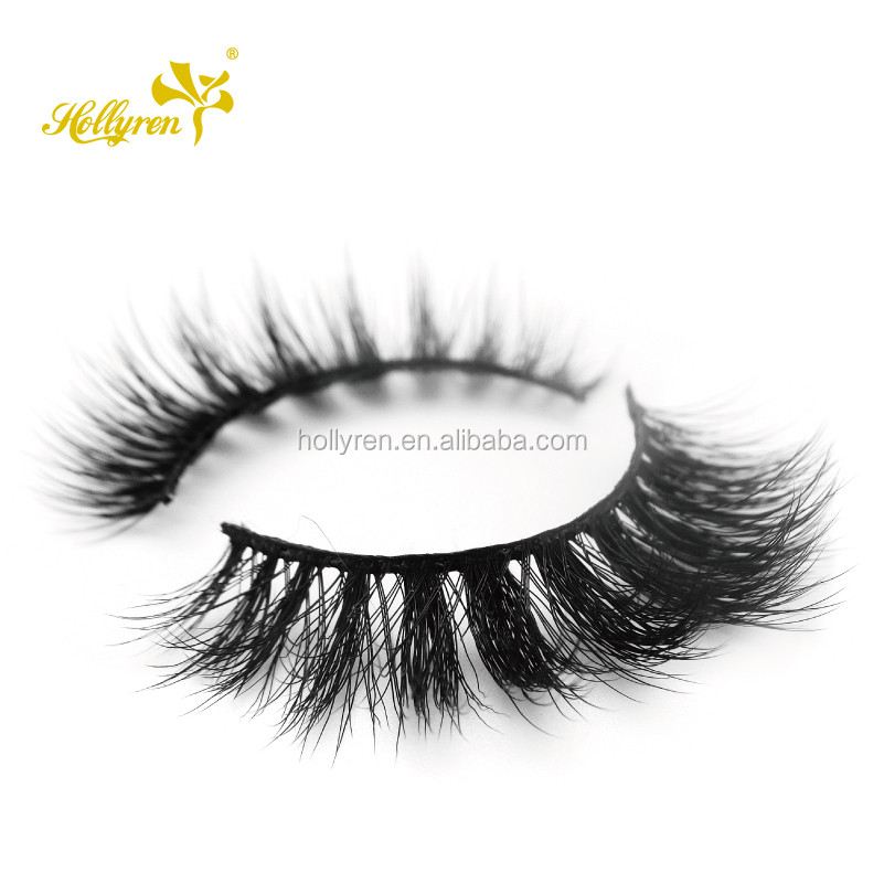 Hollyren Wholesale Top Quality Custom 3d Faux Mink Custom Eyelashes