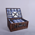 China products picnic basket,wicker picnic basket,willow picnic basket with picnic rug alibaba