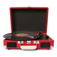 USB gramophone belt driven suitcase turntable record player factory price