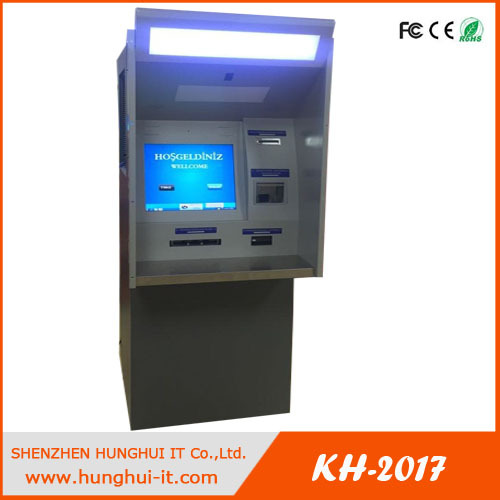 Foreign Currency exchange machine with multifunctional acceptance of bills and coin hoppers
