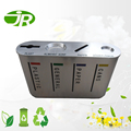 Design 4 separation stainless steel litter bin for shopping mall