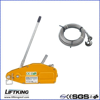 LIFTKING brand 5.4Ton Aluminium shell steel wire rope puller
