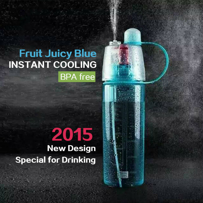 Custom and wholesale portable sport water bottle household plastic mist spray water bottle joyshaker with spout