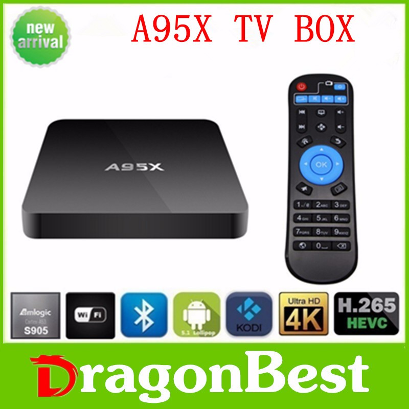 A95X S905 Smart tv 1G + 8G Kodi 16.1 Amlogic 3d 4k worthwhile xbmc tv boxQuad core Android TV Box