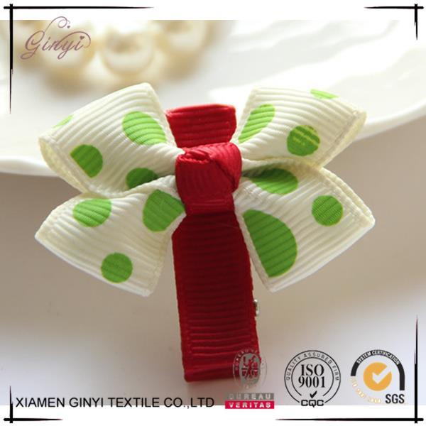 Top sale custom ribbon bow kids boutique hair pins for girls