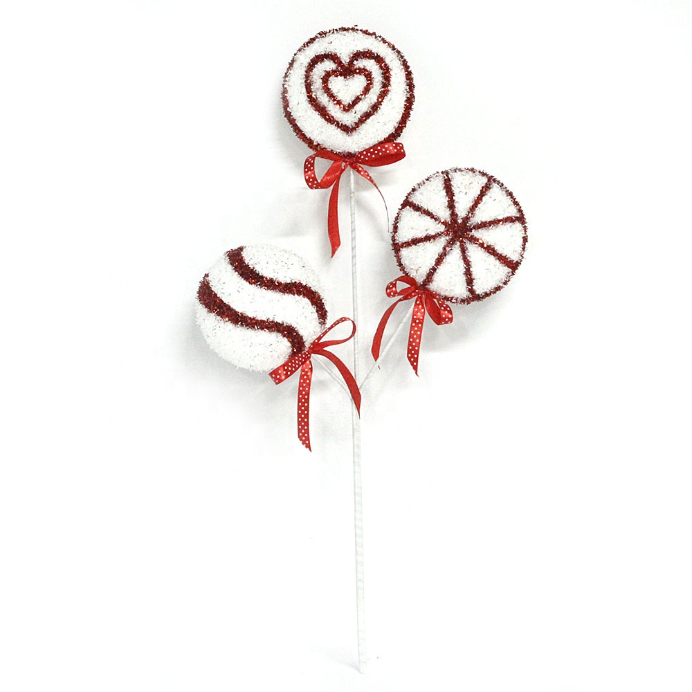 Decorative artificial plastic candy swirl lollipops for home decor