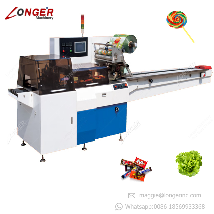 Automatic Lollipop Candy Wrapper Ice Cream Packing Machine Chocolate Bar Multi-Function Packaging Machine