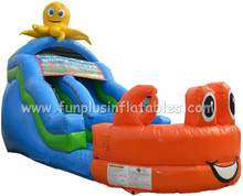 Inflatable clown slide,inflatable water slide hot selling China factory price F4137