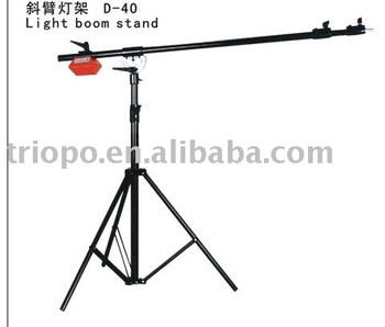 Oblique arm light stand photography equipment