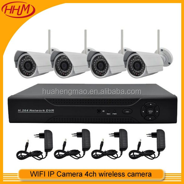 2016 CCTV Wholesale! Home security system product Wireless P2P service HDMI 720p 4ch wifi ip camera kit