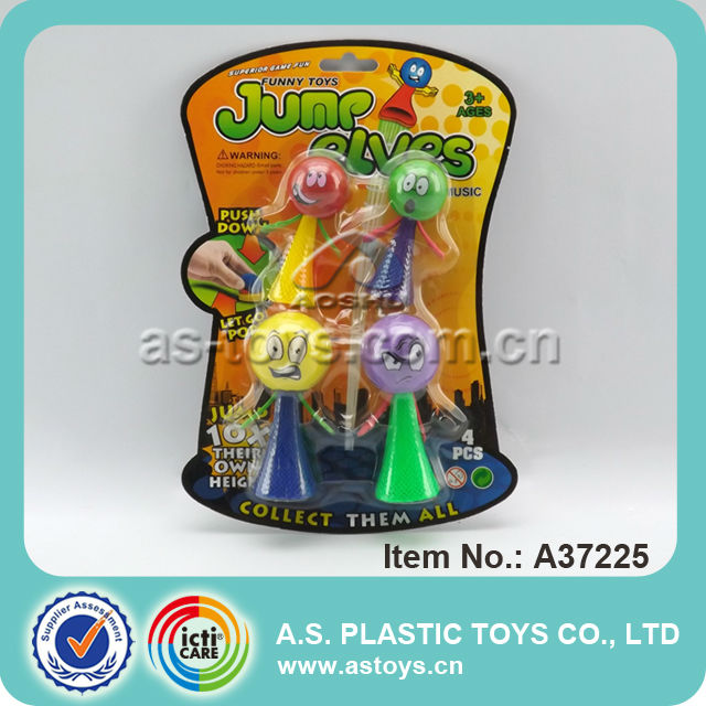 Best children gift funny tricks novelty plastic figure jump elf toy for wholesale