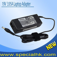 Hot sale 19V 3.95A 5.5*2.5mm laptop ac power adapter for toshiba