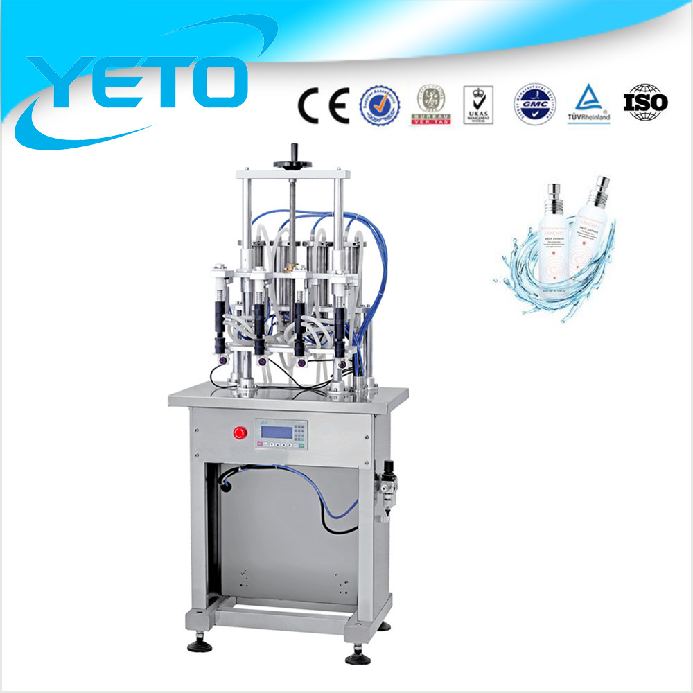 semi automatic vacuum liquid filling machine, perfurme/olive oil/makeup water/toner filling machine