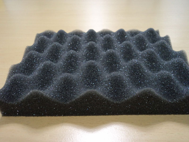 Convoluted PU foam