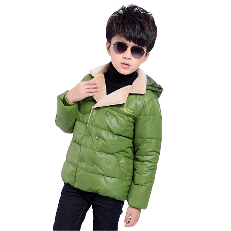 Children Boy Clothing  Down Outerwear Kids Baby Hooded Thickening Coats Jackets Winter Duck Down Parkas Coat Jackets 2015 New