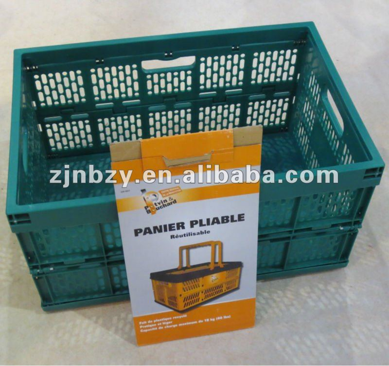 2018 Hot sale Plastic folding crate plastic fruit crates plastic collapsible storage crate