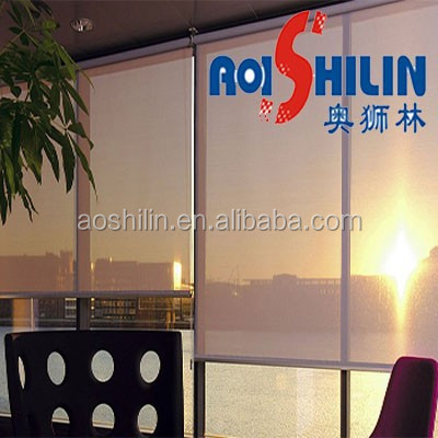 Aoshilin 2014 hot sale high quality sunscreen fabric for roller blinds