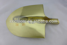 non sparking safety tools brass 420*240mm round point shovel