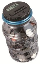 Digital Coin Bank Money Counting Jar Electronic Money Counter With LCD for Both UK Pounds and US Dollars