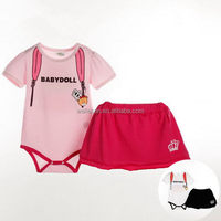 baby romper skirt short sleeve romper baby garment girls set