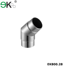 Stainless steel glass railing flush adjustable angle tube connector