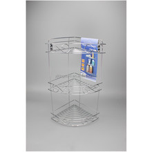 537-39 3-tier corner wire shower rack for shampoo storage
