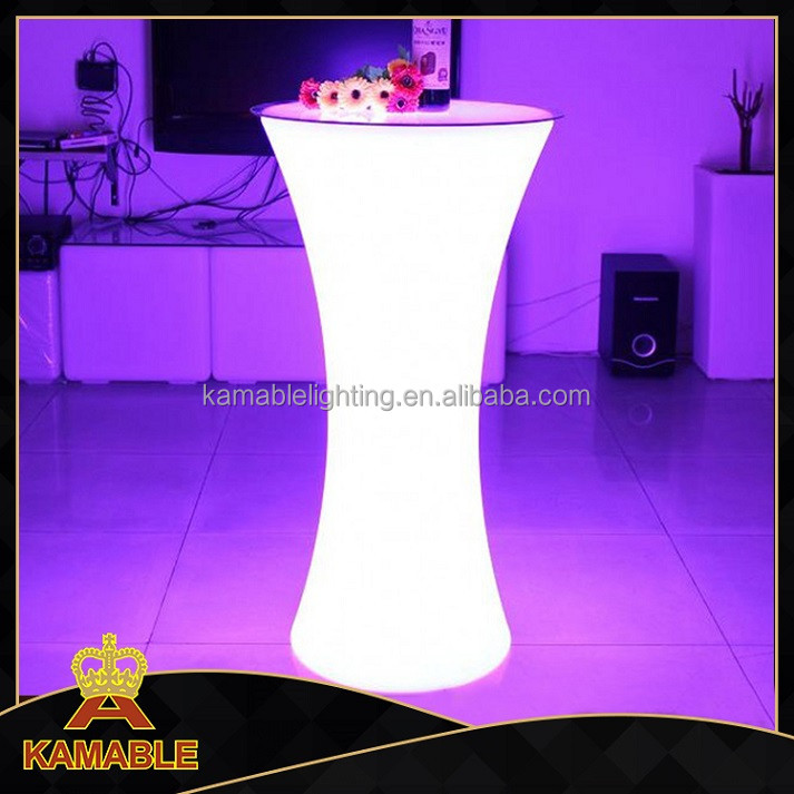 Modern LED furniture 16 colors changing LED bar table