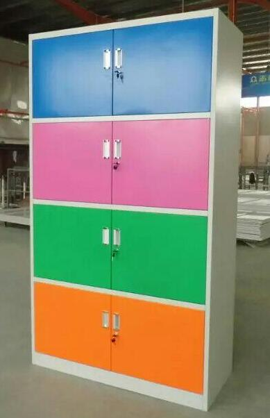 Colorful 4 tire 8 doors knocked down school lockers for sale