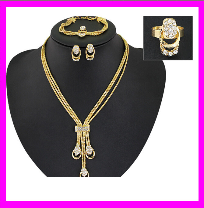 costume imitation jewellery / african jewelry sets / 18k gold plated jewelry sets KD3901